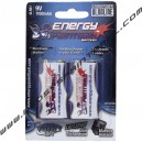 Pile 9 V Energy Paintball Alcaline 6LR61 (pack de 2)